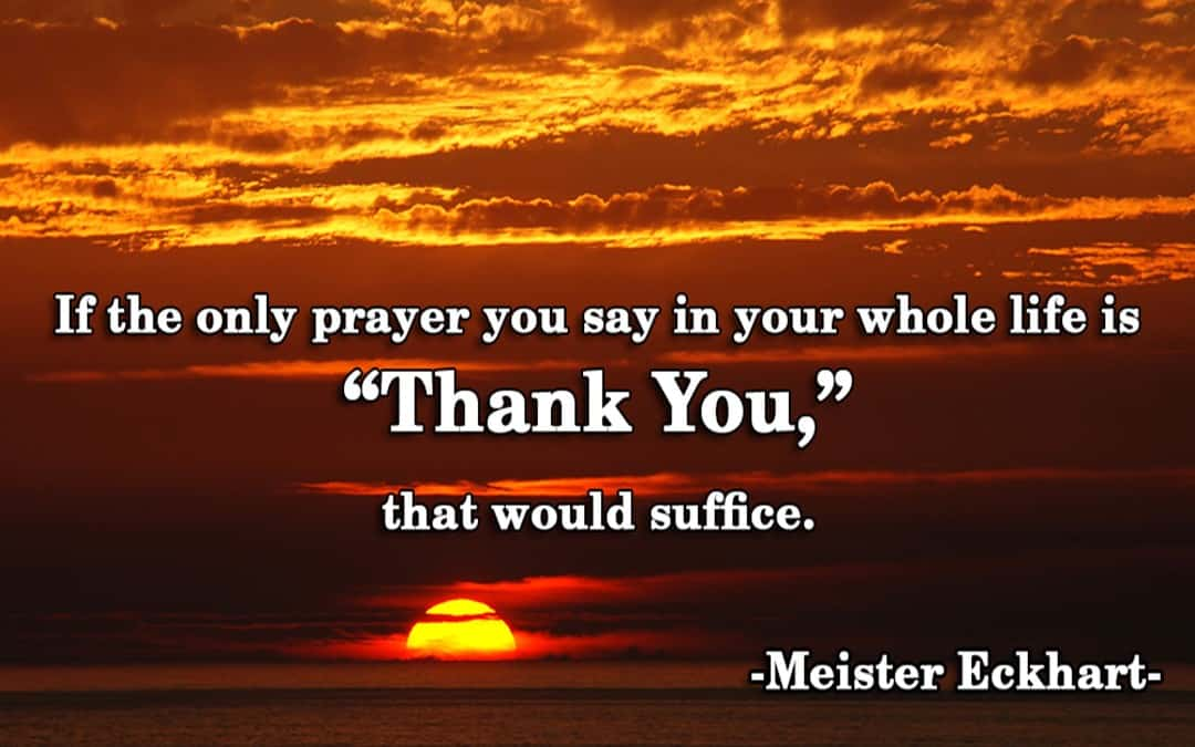 Thank You. Thank You. Alleluia!