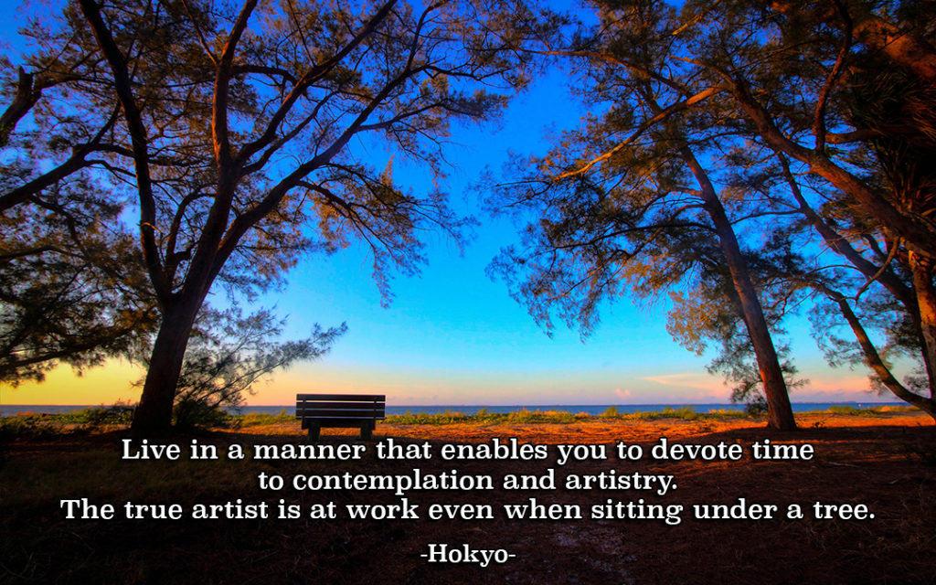 Contemplation as Art